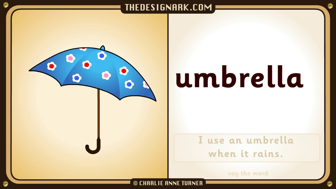 UMBRELLA: How to pronounce the English word umbrella