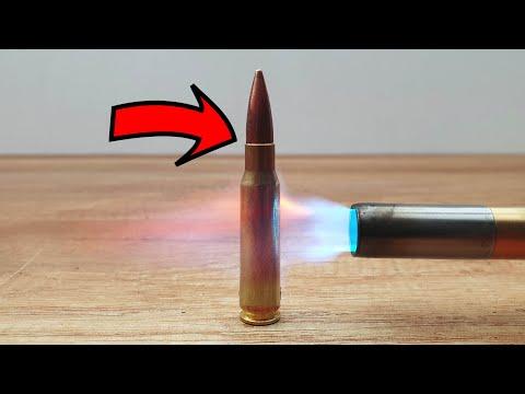 EXPERIMENT Bullet vs Gas torch