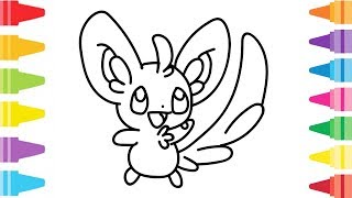 Pokemon 001 drawing and coloring Learn Colors & Painting for Kids, Children | Ada Coloring Fun