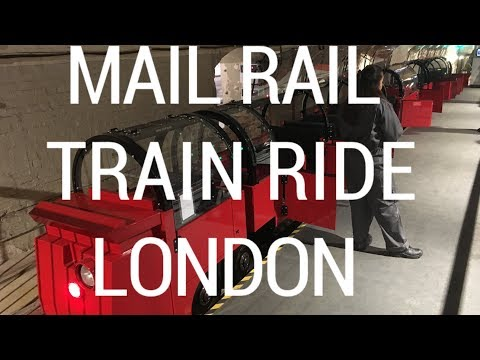 Mail Rail train ride through original Post Office tunnels, London