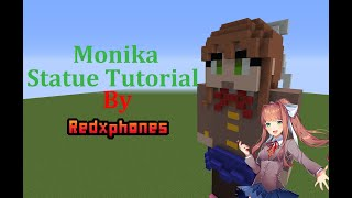 Minecraft Tutorial: Monika Statue (Doki Doki Literature Club)