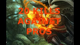 20 BOMB AGAINST PROS - Vainglory 5v5
