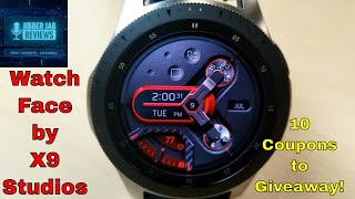 Samsung Galaxy Watch/Gear Watch Faces by X9 Studios - 10 Coupons to Giveaway! - Jibber Jab Reviews!