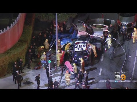 4 People Injured, 2 Critically, In South LA Crash Involving LAPD Vehicle