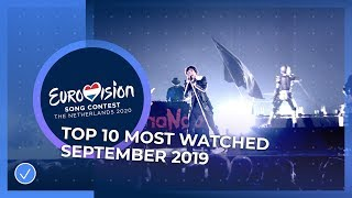 TOP 10: Most watched in September 2019 - Eurovision Song Contest
