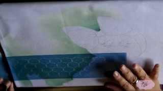 Pintura em tecido – Eliane Nascimento fundo com stencil