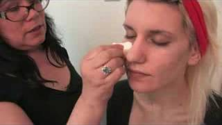 Makeup for TV & Film : Apply Makeup Foundation With Stippling Technique