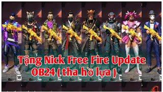 Tặng Nick Free Fire Mới Nhất cho những ai nhanh tay nhanh mắt (.....80% độ khó )
