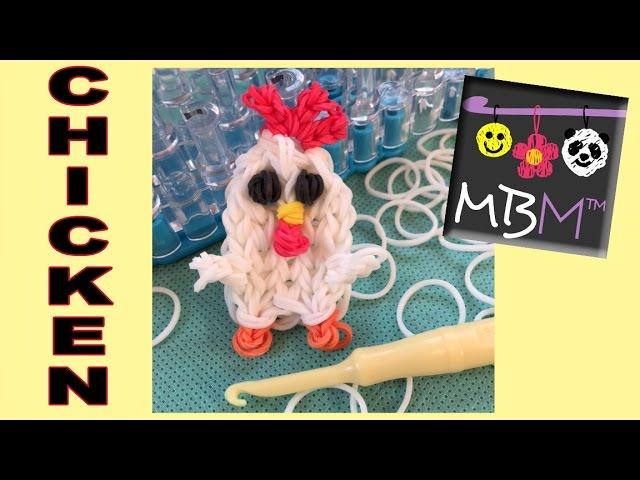 Rainbow loom chicken charms