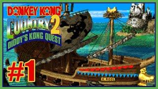 Detonado Donkey Kong Country 2 Diddy's Kong Quest BR - 1º Mundo - Até um idiota vence esse chefe