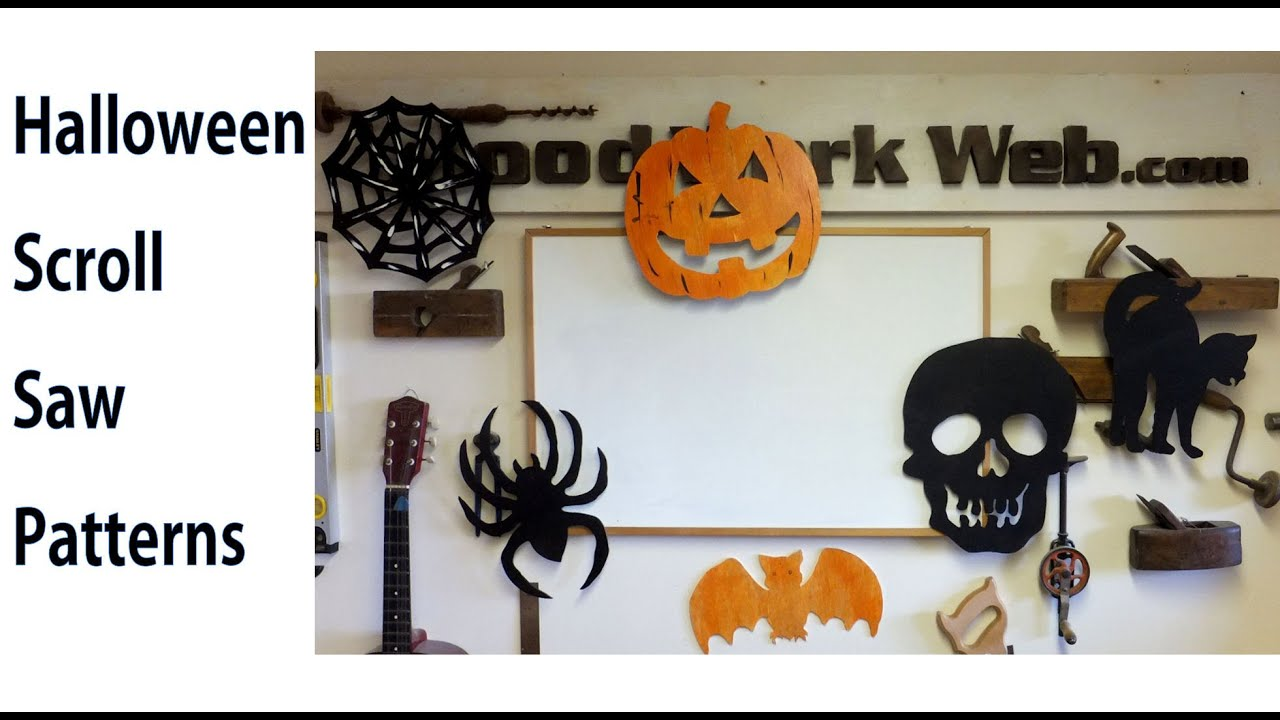 easy scroll saw patterns for halloween woodworkweb youtube