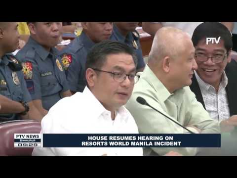 House resumes hearing on Resorts World Manila incident