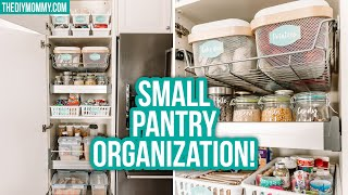 SMALL PANTRY ORGANIZATION Before & After | Dollar Tree & Ikea