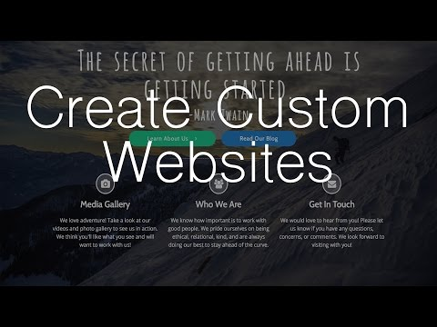 Make a Custom Website with WordPress - Elementor Page Builder!