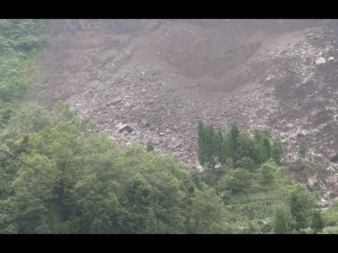 Torrential Rains Cause 50,000 Cubic Meter Landslide in southwest China