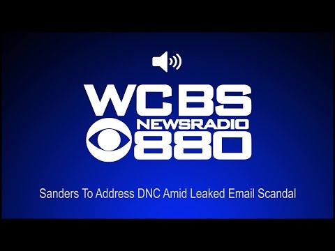Sanders To Address DNC Amid Leaked Email Scandal (Audio)