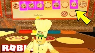 MAKING THE GOLD & NEON PIZZA | Roblox Work At A Pizza Place