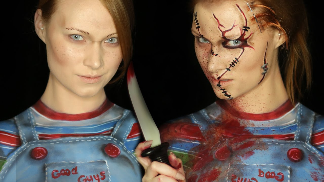 Chucky Makeup Tutorial (Clothes ALSO Painted on!) - YouTube