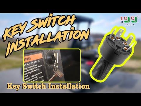 golf cart club car ds key switch installation video