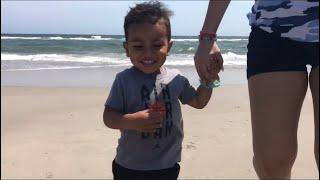 Nathan's first time at the beach 🏝/ North Carolina vlog pt. 1