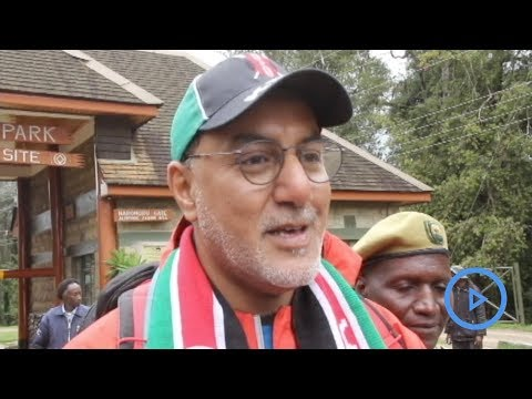 Tourism CS Najib Balala conquers Mt. Kenya