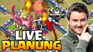 Live Clankriegs- Angriff + Planung | Rathaus 13 | Queenwalk Drachen | Clash of Clans deutsch