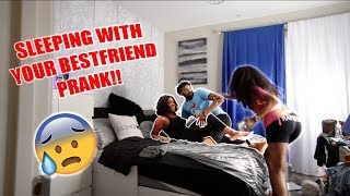 CAUGHT SLEEPING WITH YOUR BEST FRIEND IN YOUR BED PRANK ON ABBY NICOLE!! (SHE WENT INSANE)