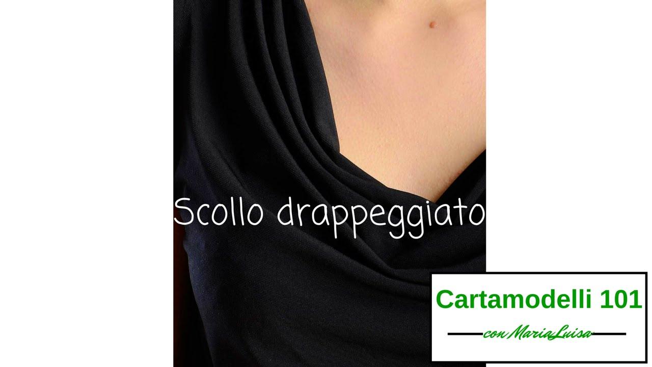 Molto Scollo drappeggiato - Cartamodelli 101 con Maria Luisa - YouTube DL48