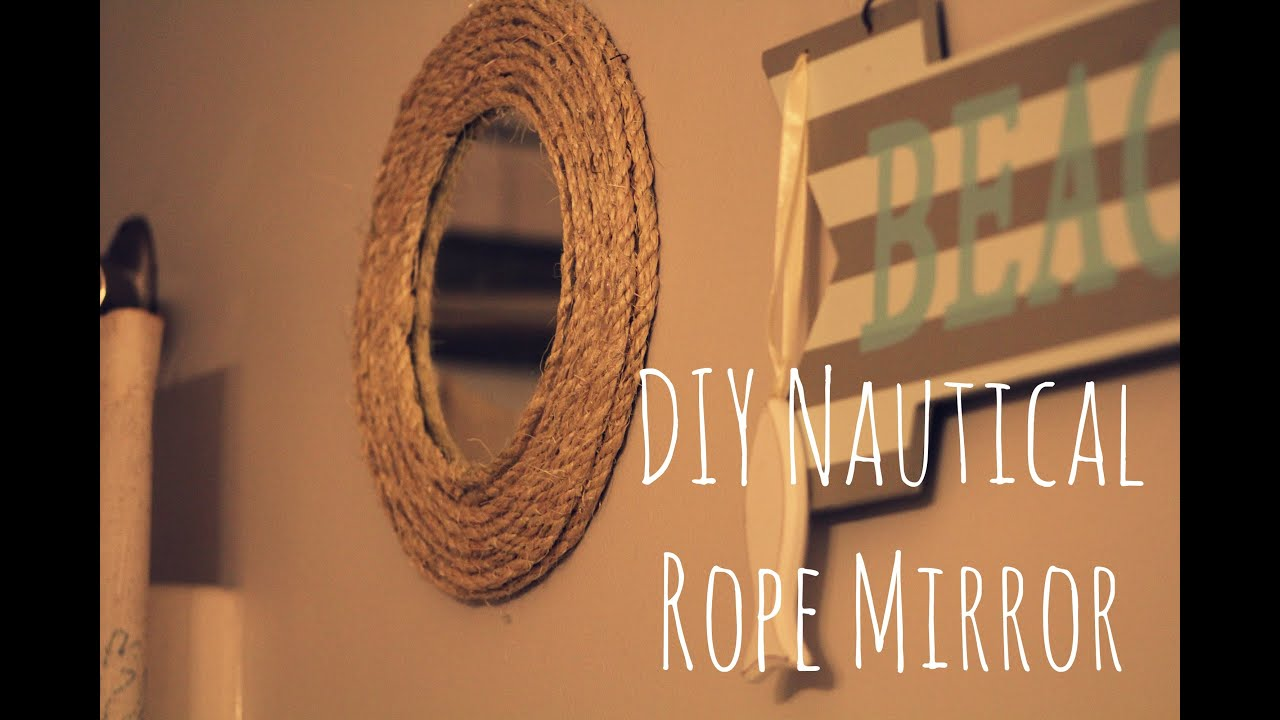 Nautical Rope Mirror Frame Diy Rope Project Easy And