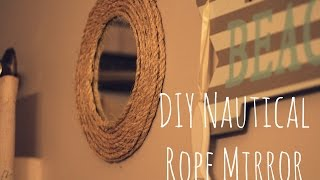 Nautical Rope Mirror Frame: Diy Rope Project Easy And Inexpensive! Martha Stewart Inspired