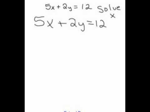 Solving For X In Standard Form Of A Linear Equation Youtube