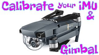 Dji Mavic Pro imu / Gimbal - How To Calibrate with Go4 App