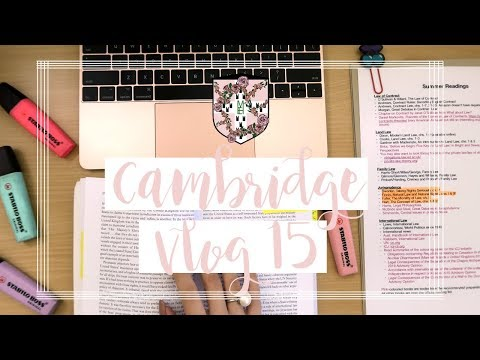 CAMBRIDGE VLOG 15 | LOTS OF READING & SOME HEALTHY FOOD
