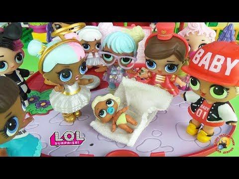 видео: Куклы ЛОЛ СЮРПРИЗЫ 2 серия СЕСТРИЧКИ! Пупсы малышки lol surprise lil sister dolls baby 2