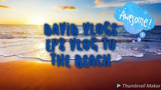 DAVID VLOGS EP8|VLOG TO THE BEACH