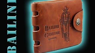 Мужской кожаный бумажник BAILINI(Бумажник Bailini - стильное мужское портмоне, которое сделано из натуральной кожи. Заказать бумажник Bailini..., 2014-06-09T22:34:45.000Z)