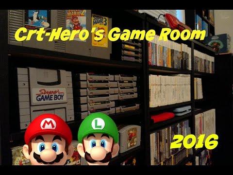 Game Room Tour/Setup 2016 - Nintendo And More!