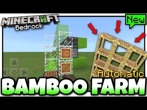 Minecraft - BAMBOO FARM( Automatic )[ Tutorial ] MCPE / Xbox