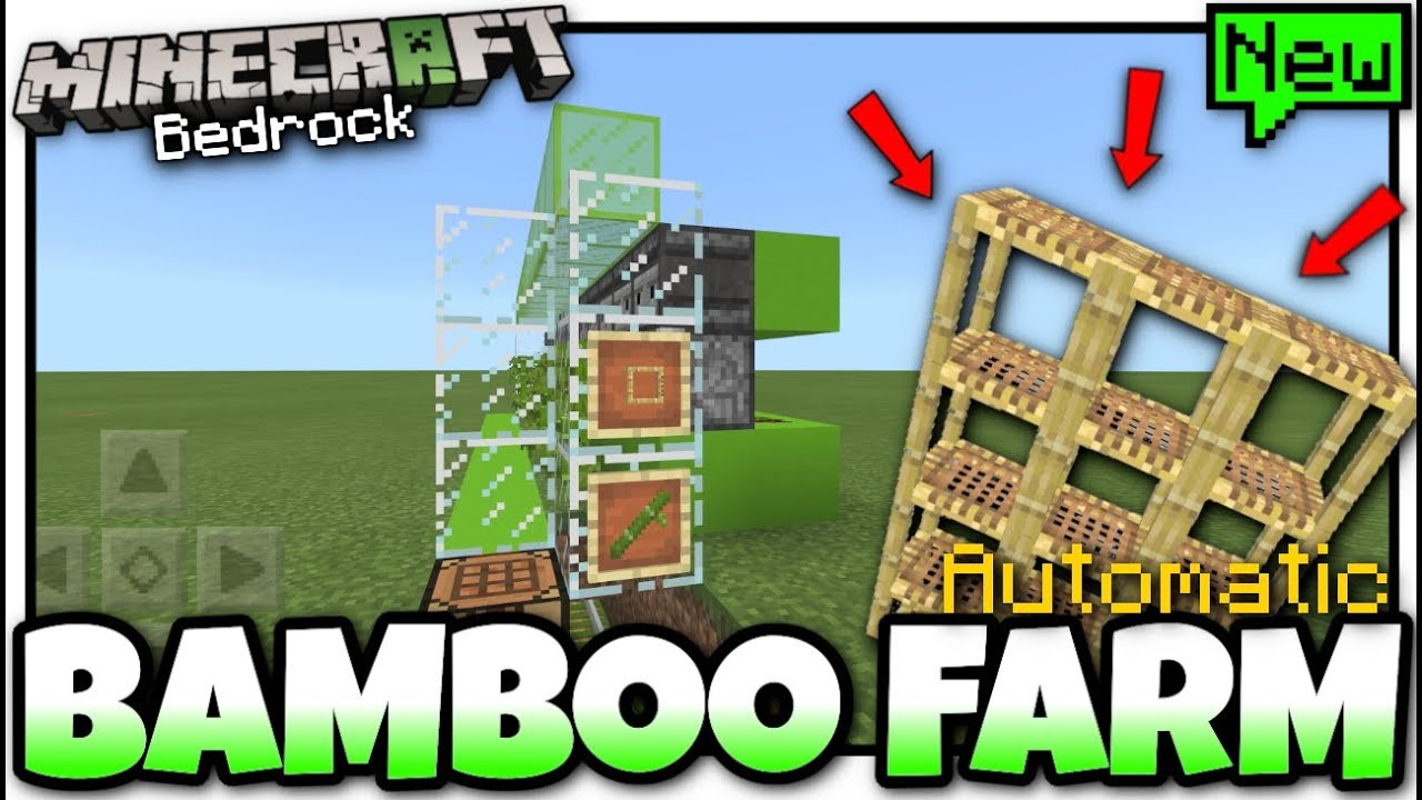 Minecraft - BAMBOO FARM( Automatic )[ Tutorial ] MCPE / Xbox / Bedrock /  Switch