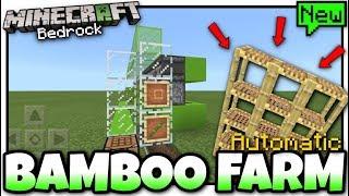 Minecraft - BAMBOO FARM( Automatic )[ Tutorial ] MCPE / Xbox / Bedrock / Switch