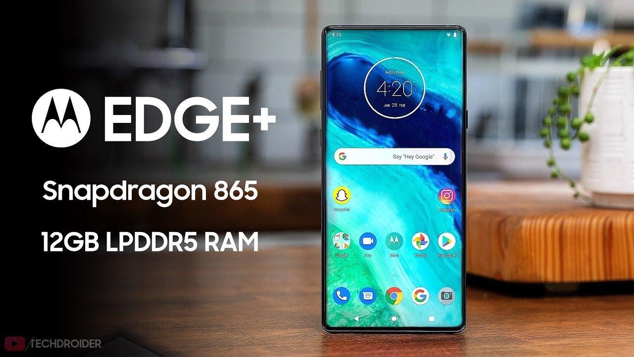 Motorola Edge Plus - Snapdragon 865 + 12GB RAM! - YouTube