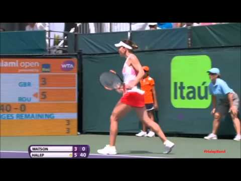 Simona Halep - Heather Watson Highlights Miami Open 2016