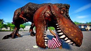 Jurassic World Evolution - Tyrannosaurus Rex Vs Stegoceratops Vs Tr...