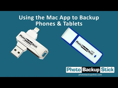 <strong>Backing Up Phones & Tablets Using Mac Computers</strong><br>How to back up phones and tablets using the Photo Backup Stick and your Mac computer.
