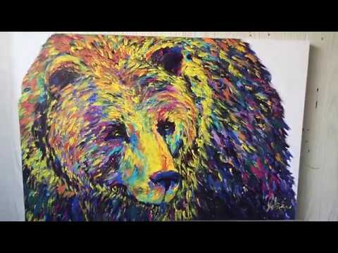 Grizzly Fingerpainting