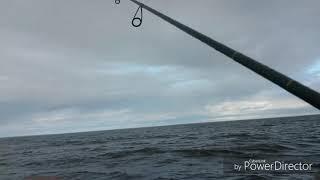 Экстримальная рыбалка с лодки. Рыбинское водохранилище.Легково.Джиг.Волна 1,5метра. #виталийтюрин