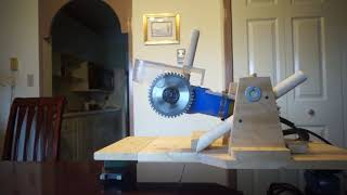 hand held grinder to a mini chop saw with blade and disc change