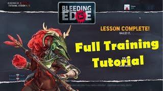 Bleeding Edge Full Basic and Advanced Training Tutorial Gameplay