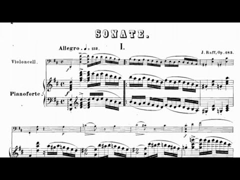 Joachim Raff - Cello Sonata Op. 183 (audio + Sheet Music)