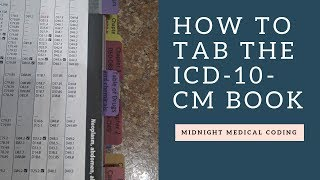 How To Tab The ICD-10-CM-Book